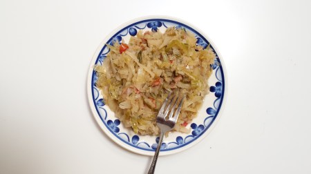 Bigos with a fork