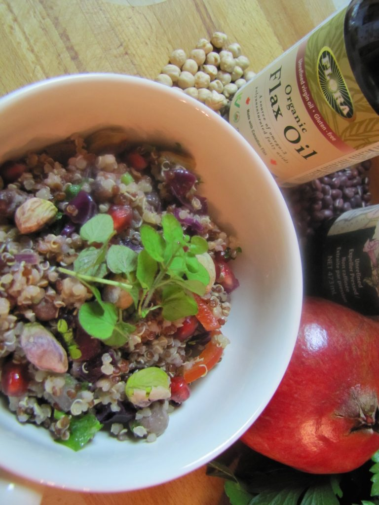 quinoa salad with healthy fat