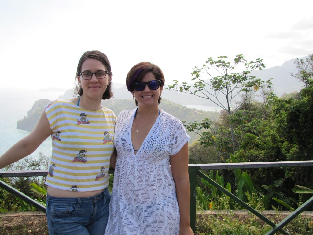 Amanda and Elizabeth in Trinidad
