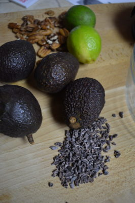 Avocado, Lime and cacao nibs