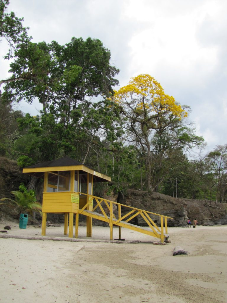 LifeGuard station on the beach in Trinidad