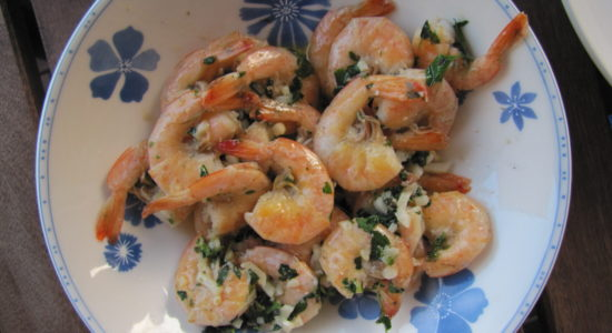 Garlic Butter Shrimp with Sprouted Quinoa and Rice Pilaf