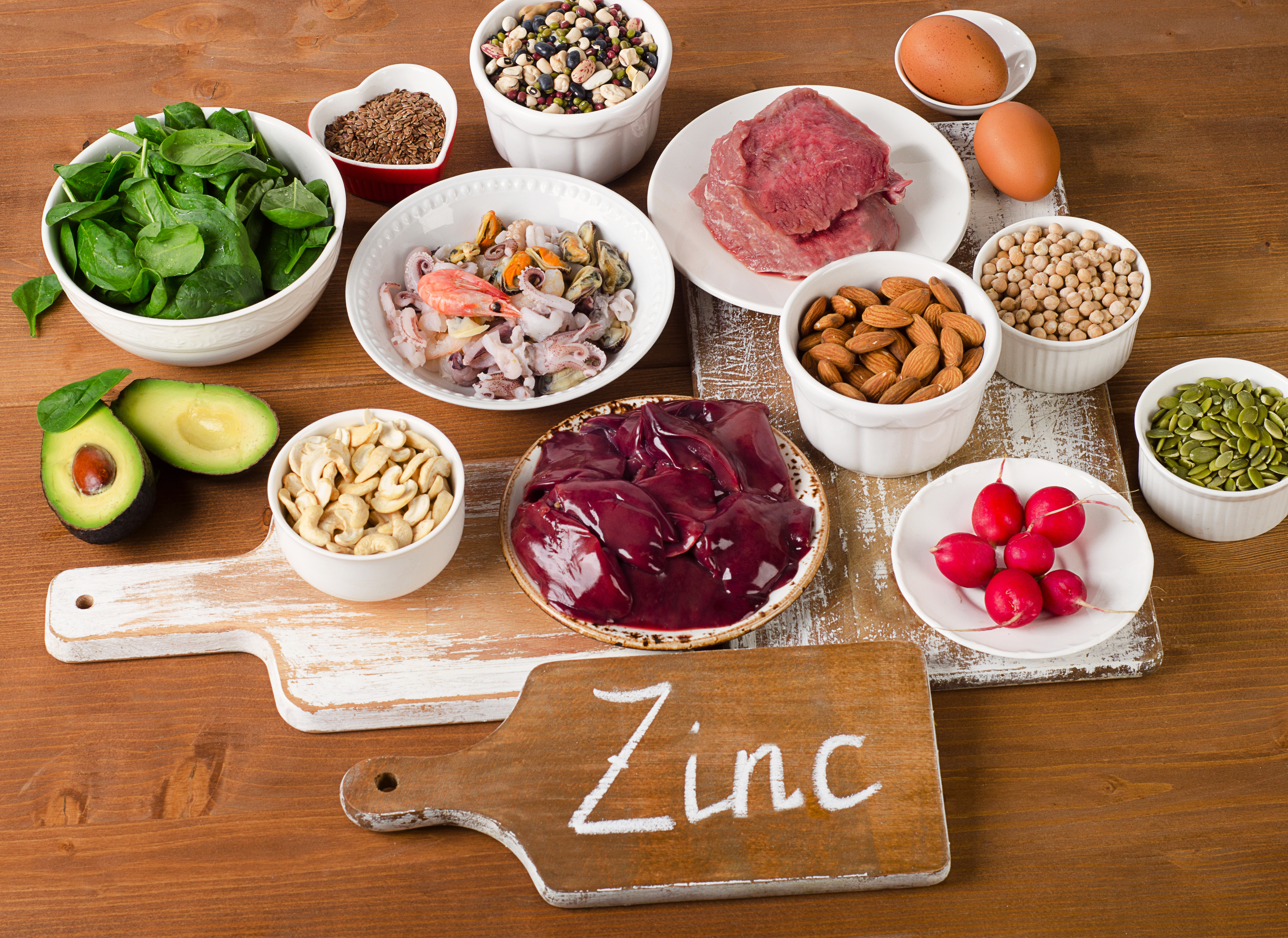 zinc - health benefits, deficiency symptoms & natural food