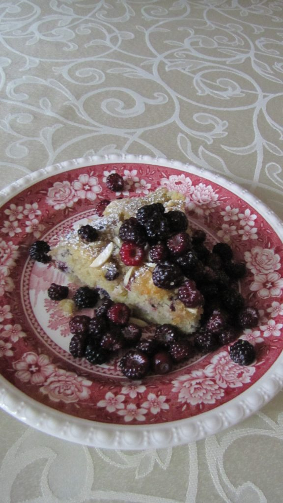 Berry Cake with black raspberries