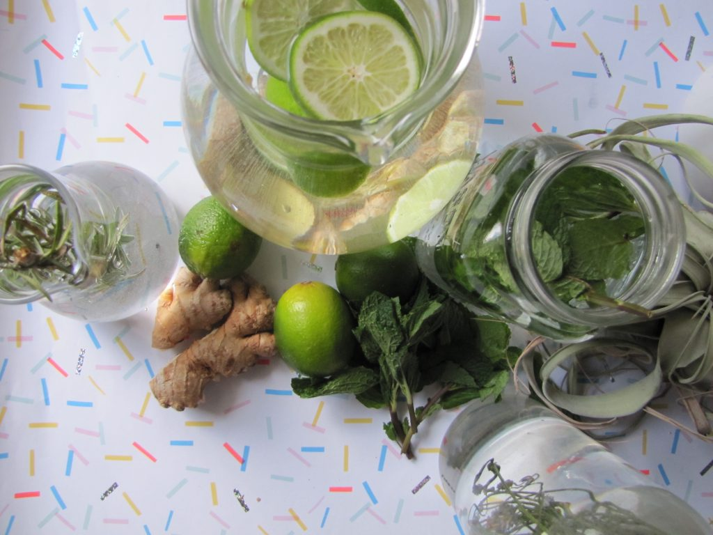 Lime and Ginger organic essence water