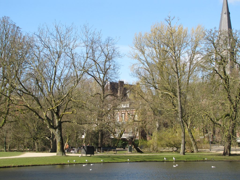 Vondelpark lake view