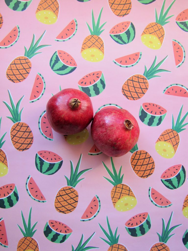 two Pomegranate
