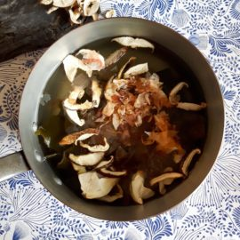 dashi with bonito and mushroom