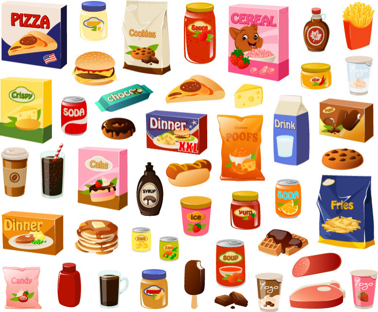processed foods, sugar, fat, salt