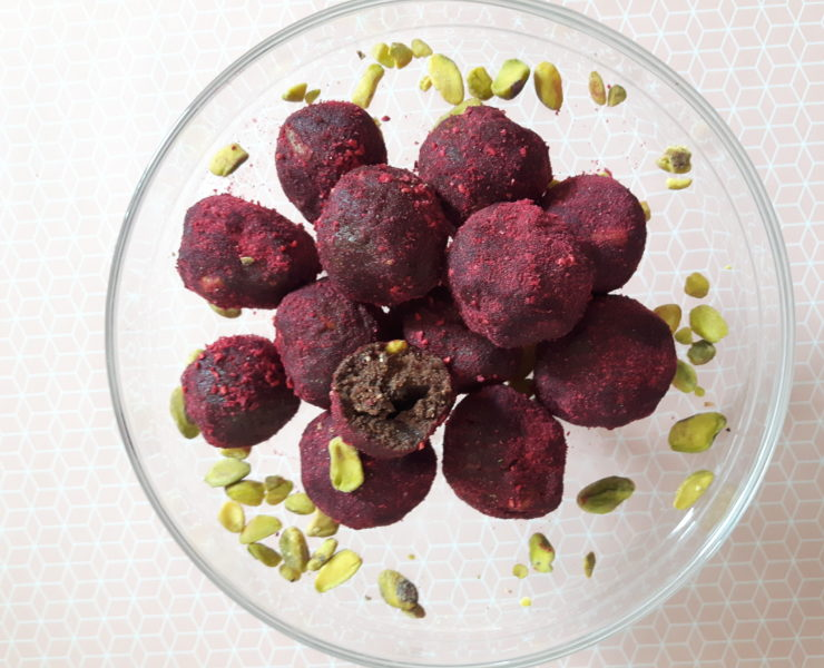 Raspberry Pistachio Bliss Balls