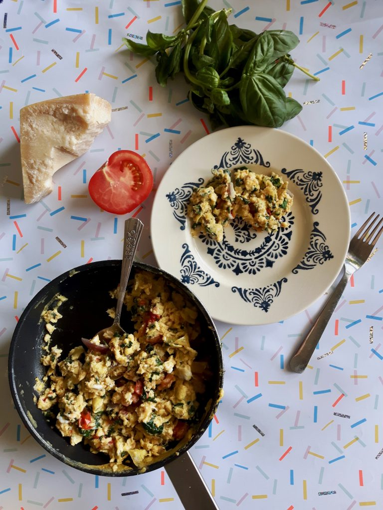 tuscan scrambled eggs for breakfast