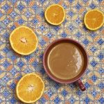 Hot chocolate with orange