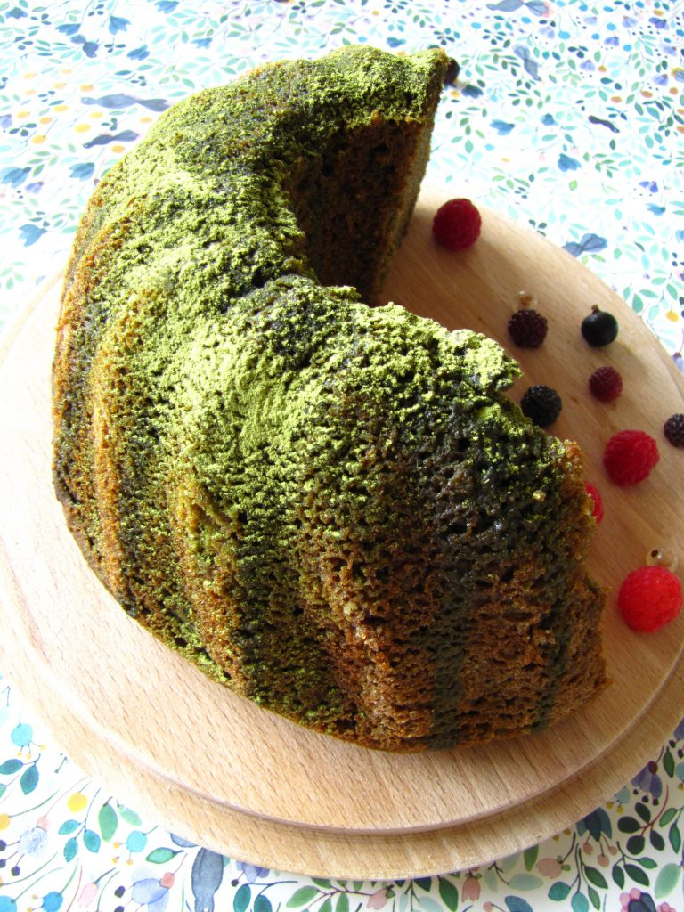 Side of Matcha Bundt Cake