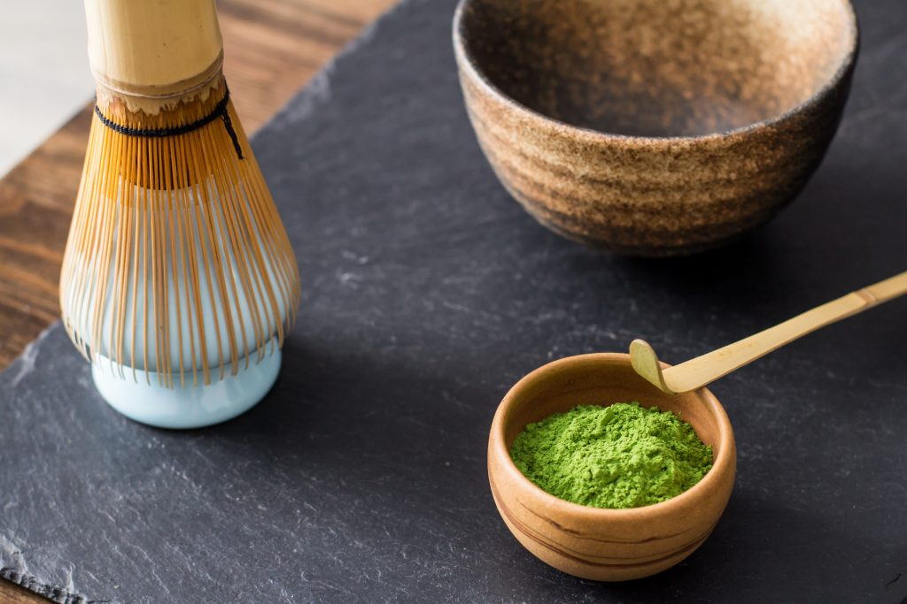 Matcha and utensils