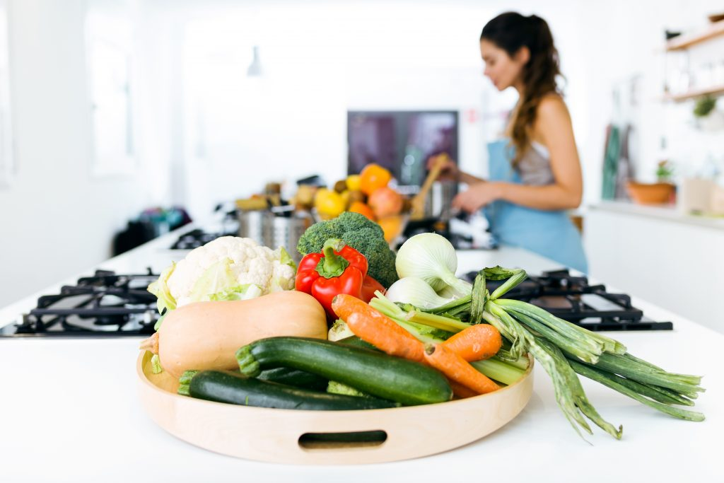 Woman making healthy Food Choices