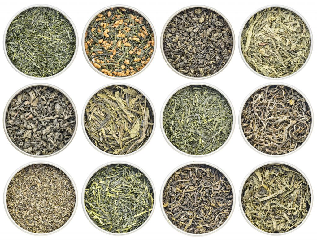 Different Varieties of Green Tea