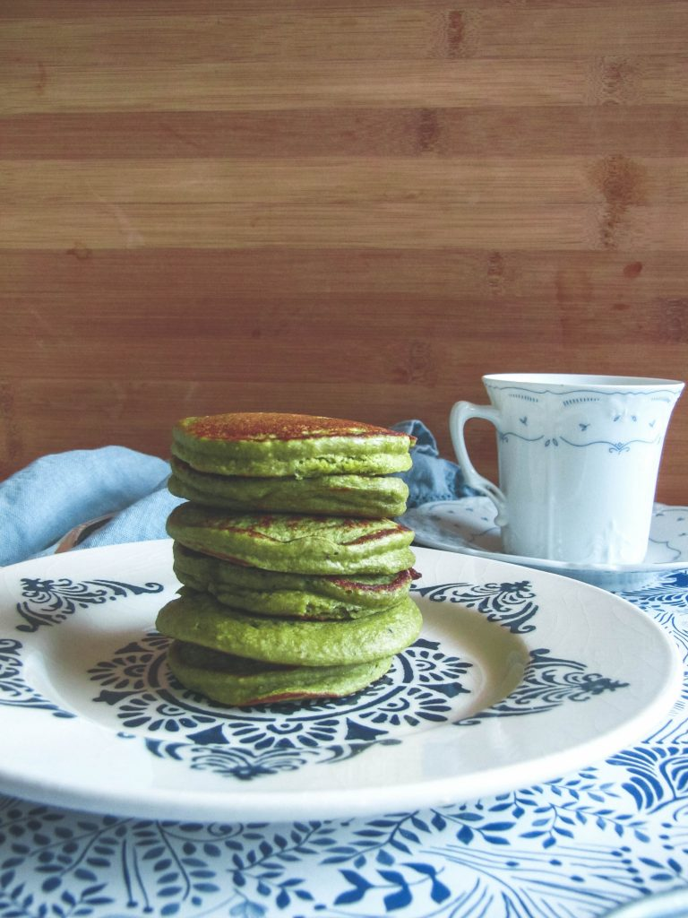 Stack of Mini Matcha Pancakes
