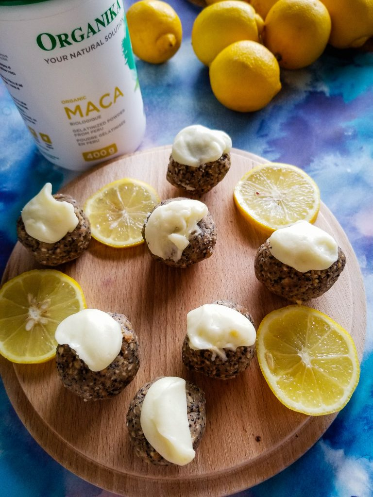 lemon poppy seed doughnut holes with maca