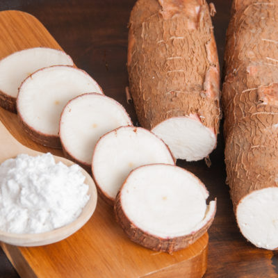Cassava flour and root