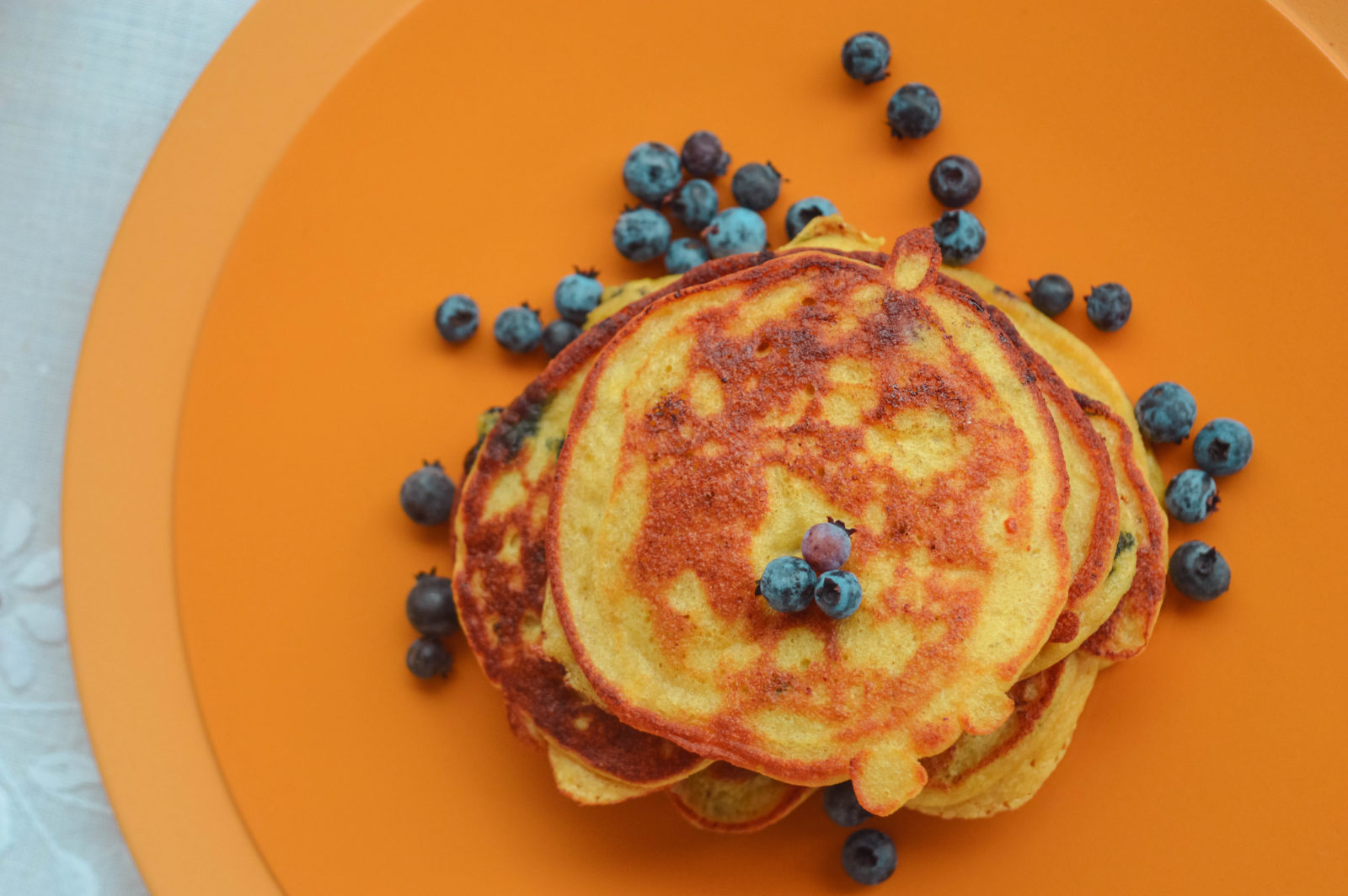Gluten-free Lemon and Wild Blueberry Ricotta Pancakes