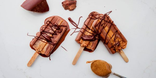 Chocolate Nut Butter Cup Popsicles